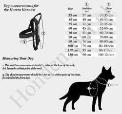 Hurtta Casual harnas voor grote honden maten