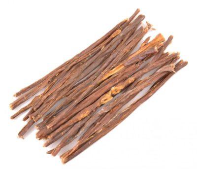Gedroogde runderdarm sticks