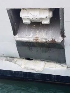 MSC Armonia Cruise Ship collided in Roatan