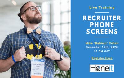 Recorded Training: Recruiter Phone Screens