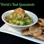 The world's best guacamole plated and ready to eat!