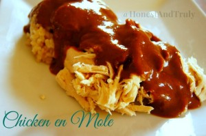 Chicken en Mole - authentic Mexican cuisine at home