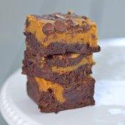 Easy pumpkin swirl brownies recipe from scratch