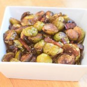 Enjoy bacon roasted Brussels sprouts at Thanksgiving dinner with this easy recipe