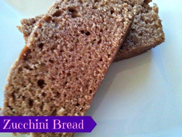 Zucchini bread ready to eat