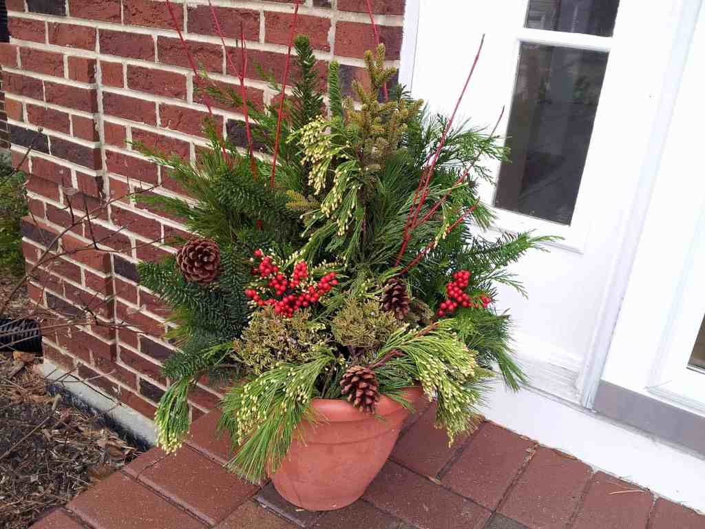 Winter Container Garden from Class at The Chalet in WIlmette