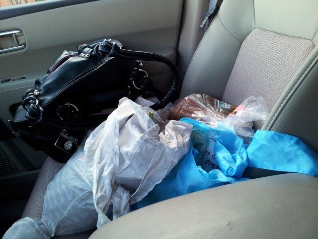 All the items that live in my passenger seat
