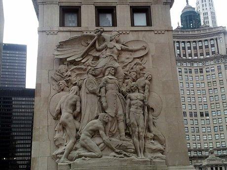 Statuary engraved in Chicago bridges #LoveThisCity #CBias