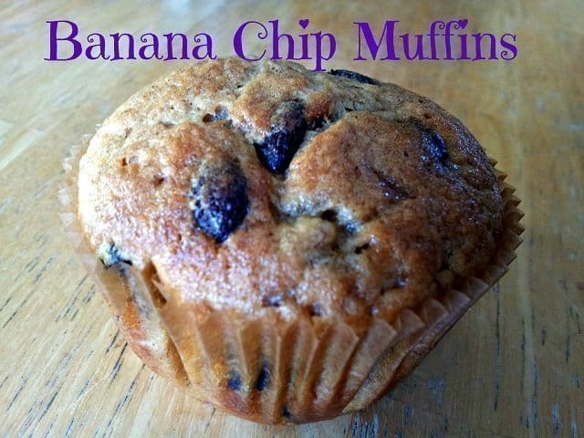 Banana chip muffin with coconut oil #CF