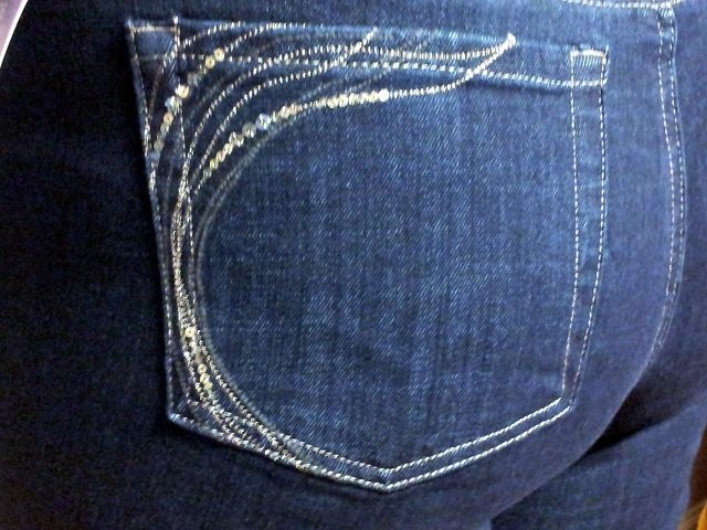 Blinged out pocket detailing