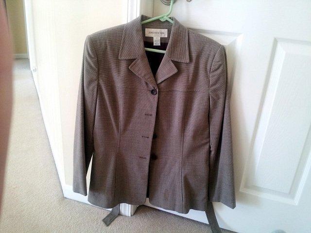 suit jacket with bonus stains