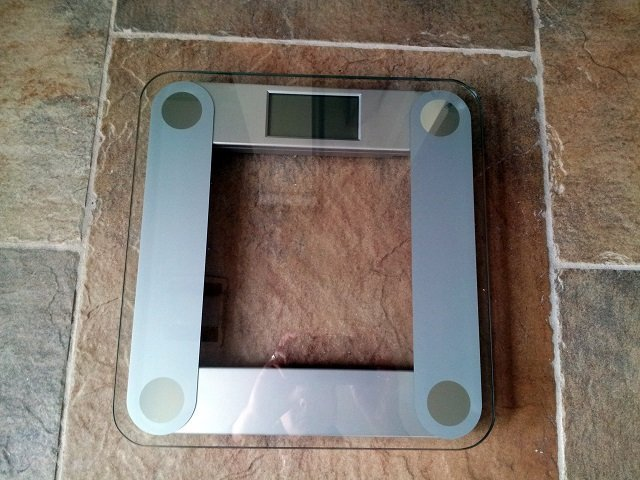 bathroom scale in my bathroom