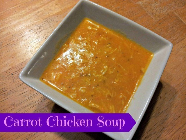 Bowl of carrot chicken soup