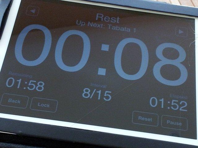 Tabata countdown timer