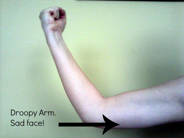 Arm muscle that needs work