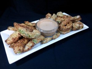 Avocado fries ready to eat