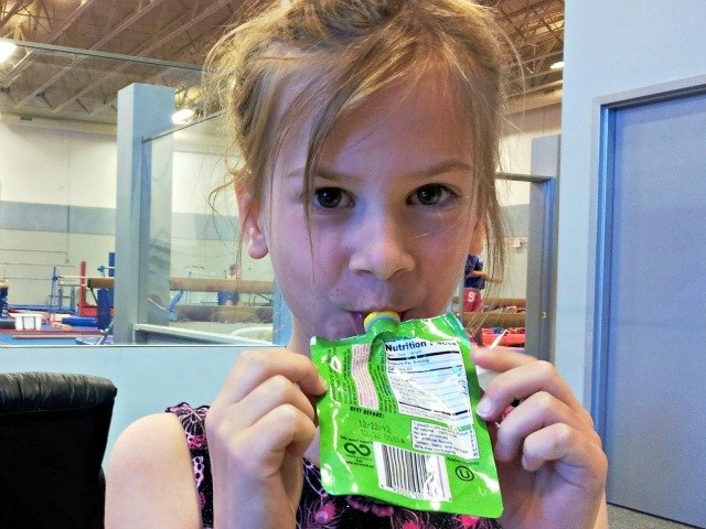 GoGo Squeez is the perfect snack for gymnastics