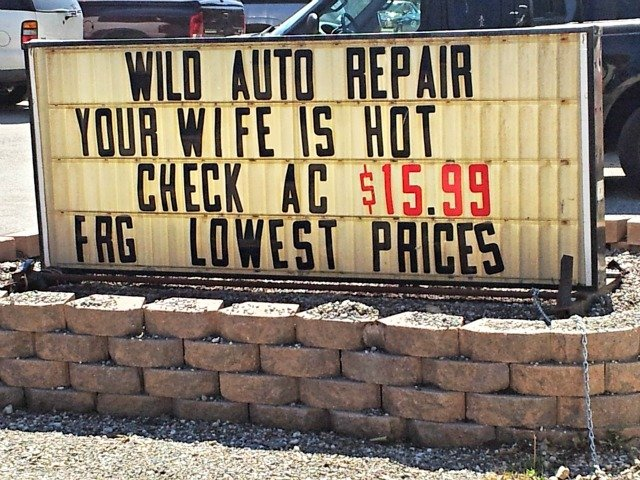 Your Wife is hot.  Check A C