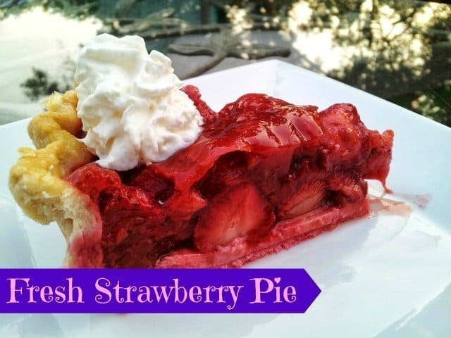 Strawberry pie recipe plated