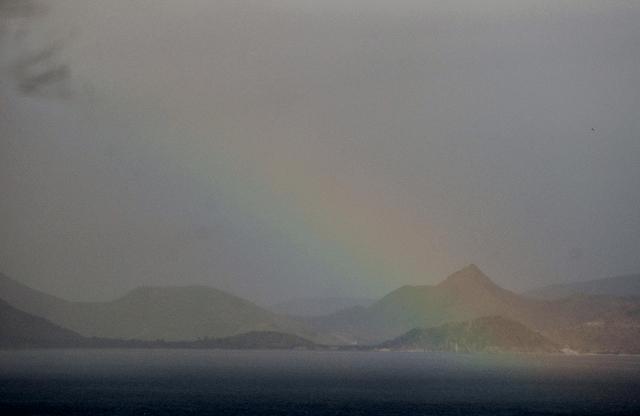 rainbow over St. Kitts