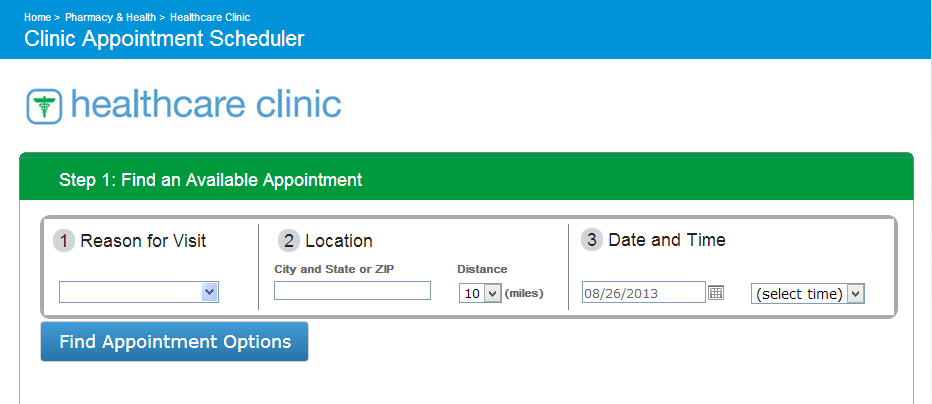 Easy to make an appointment online at the Walgreens #healthcareclinic #shop