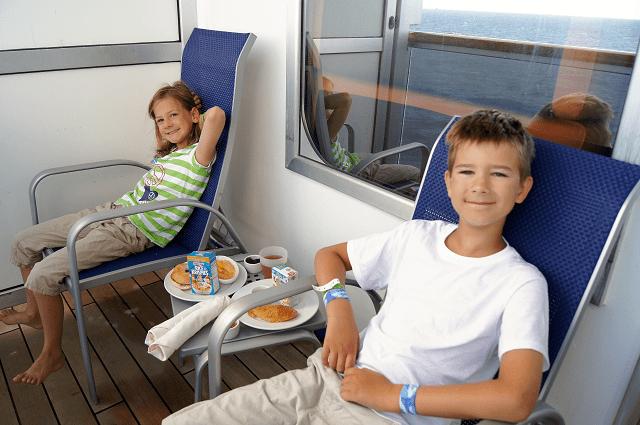 Room service on the balcony
