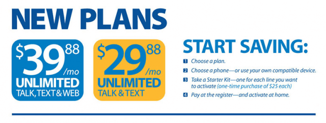 $29.98 unlimited talk and text plan