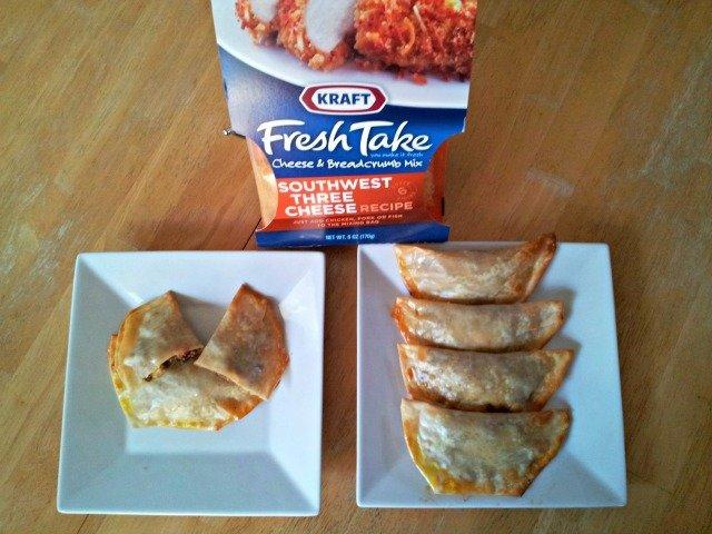 Wonton Empanadas with Kraft Fresh Take