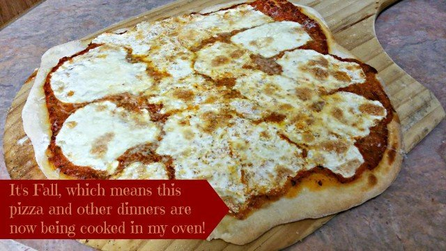 Oven baked homemade pizza on a pizza peel