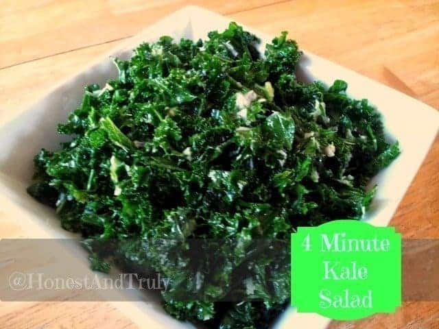 Kale salad in a bowl ready to eat