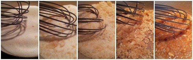 Steps to making caramel