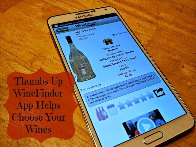 Thumbs Up WineFinder app review
