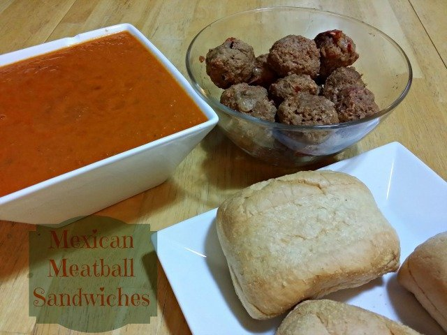 Mexican Meatball Sandwiches