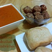 Mexican Meatball sandwiches ready to assemble