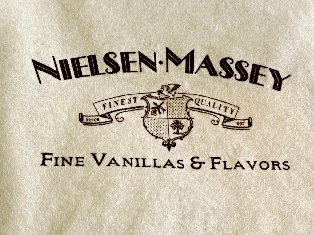 napkin showing neilsen-massey logo