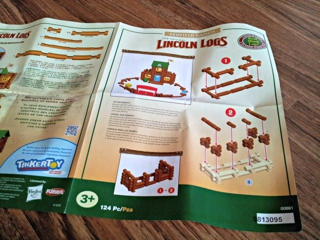 Lincoln Logs Redfield Ranch instructions