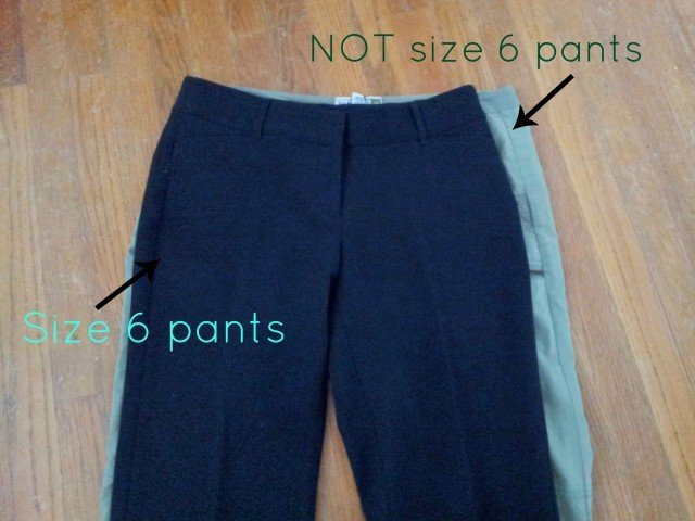 Difference in pant sizes