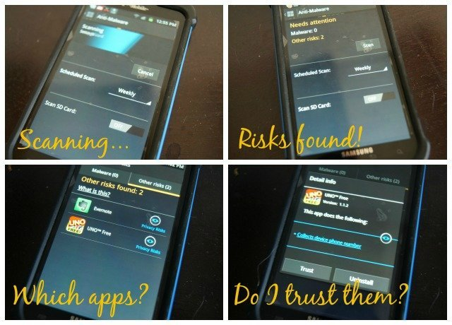 Scanning your phone with Norton Mobile Security is fast and easy