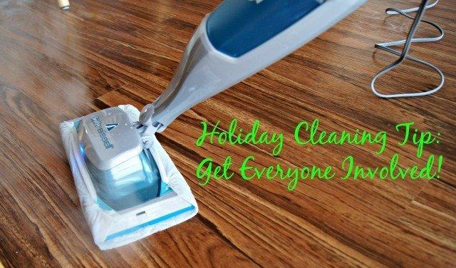 Swiffer SteamBoost Mop in use