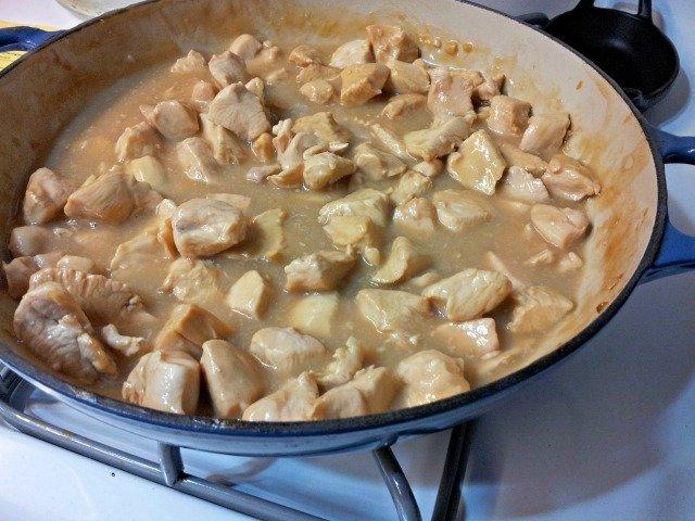 Thai skillet chicken ready to serve