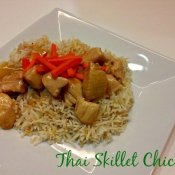 Thai Skillet Chicken recipe on a plate