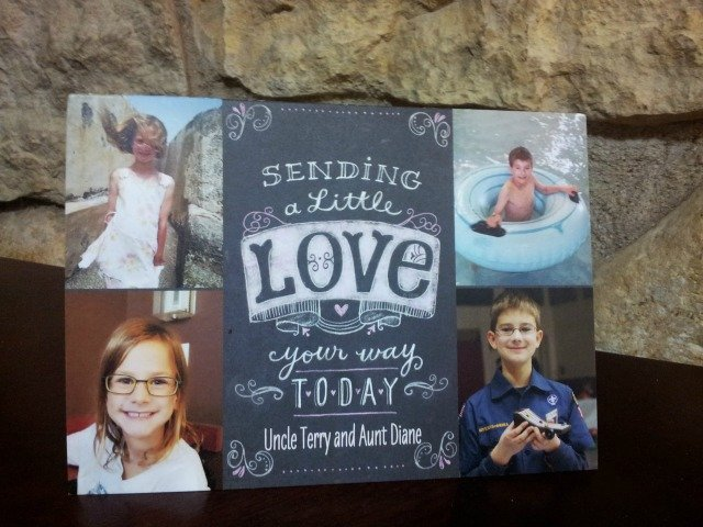 Children choose their own photos for Treat Valentine's Day cards