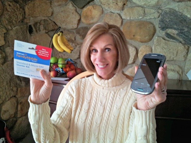 My mom loves her new Samsung Exhibit and lowest price wireless plan #shop