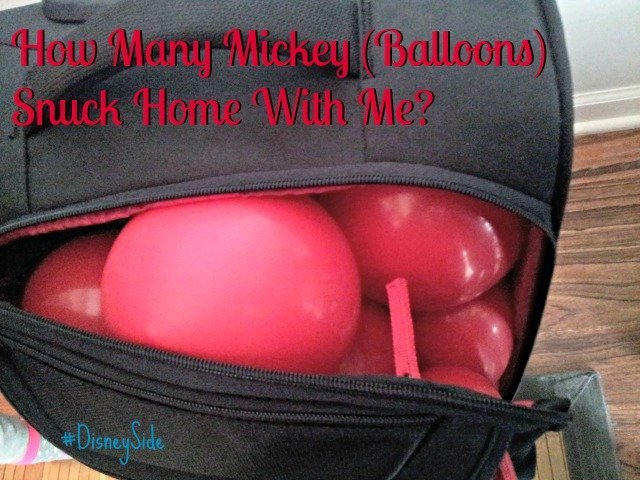 How Many Mickey Mouse balloons can hide in an American Tourister suitcase at the #DisneySide at home party