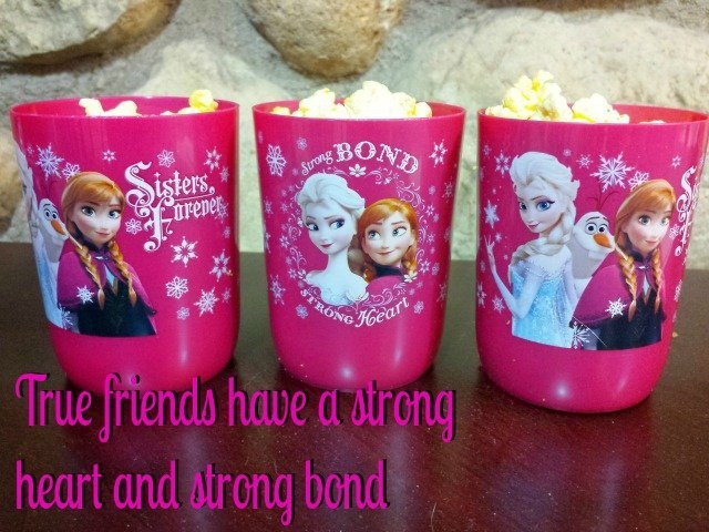 FROZEN cups to celebrate watching DIsney's #FROZENfun
