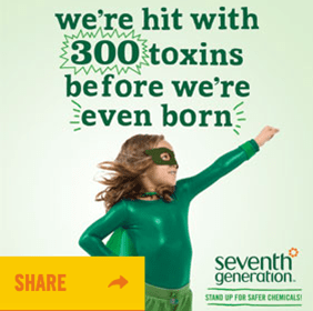 We are exposed with 300 toxins before we are even born