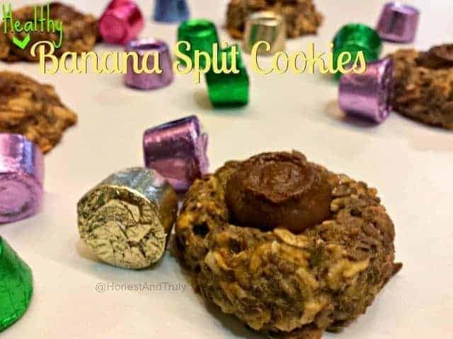 Healthy Banana Split cookie recipe - gluten free!