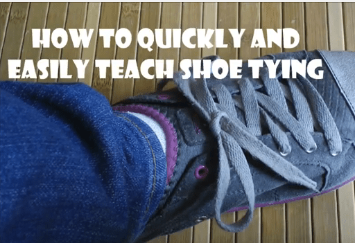Teaching kids to tie shoes can be frustrating, but with this simple trick, it's easy as can be for everyone!