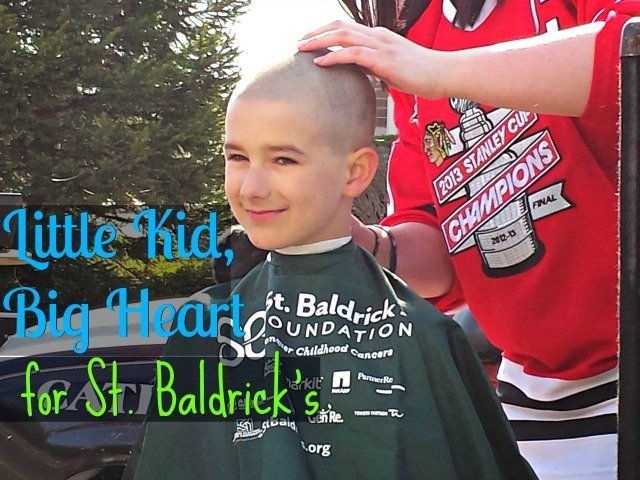 "Kids can make a difference. Even if it's as ""simple"" as shaving your head for St Baldrick's"