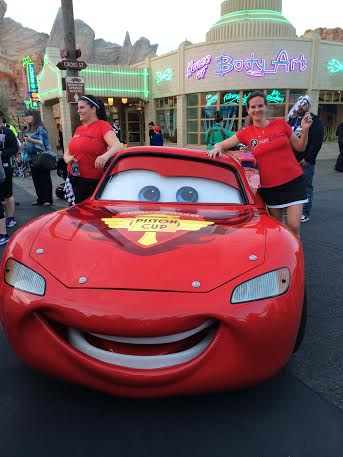 Bonus of the Run Disney fun run? Posing with Lightning McQueen at the end